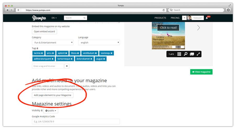 adding multimedia to magazine