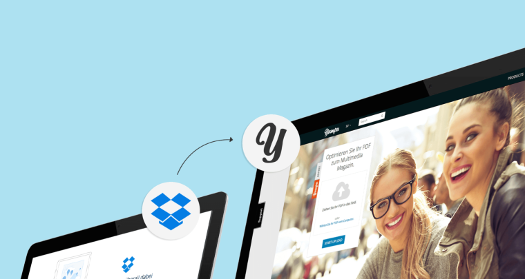 Publishing brochures quickly using Yumpu and Dropbox