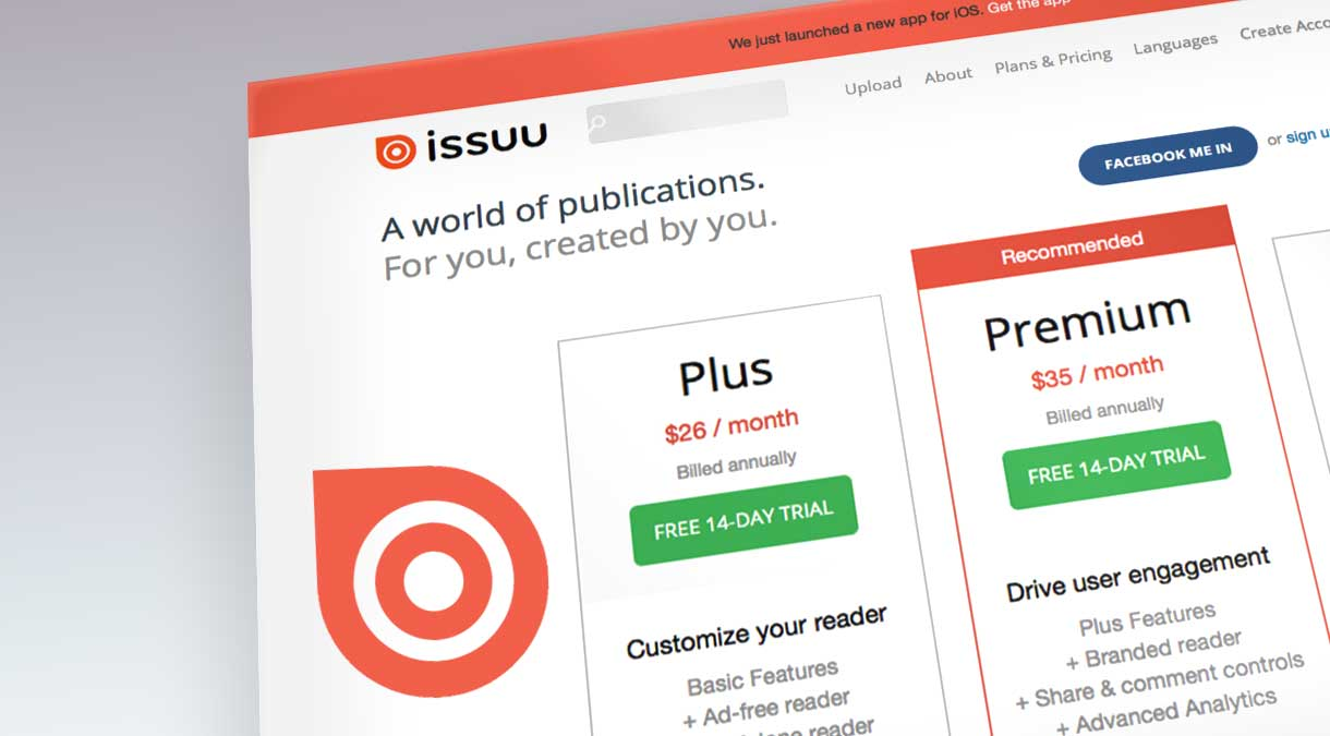 issuu - pricing